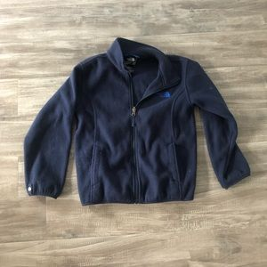 The North Face Navy Fleece Zip Up Jacket Size 7/8